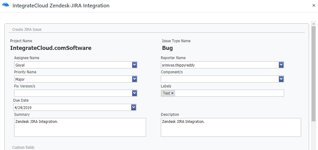 Basic JIRA Issue Fields.