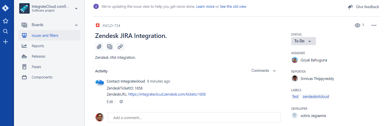 JIRA Issue.