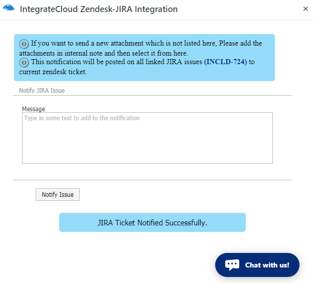 JIRA Ticket Notified Successfully