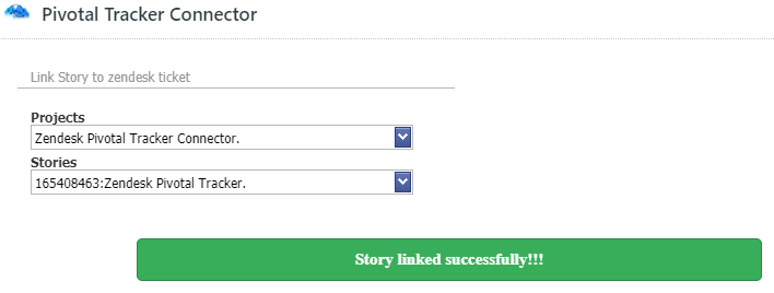 Story linked successfully
